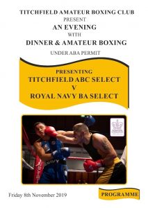 Titchfield ABC vs Royal Navy BA - Boxing Event